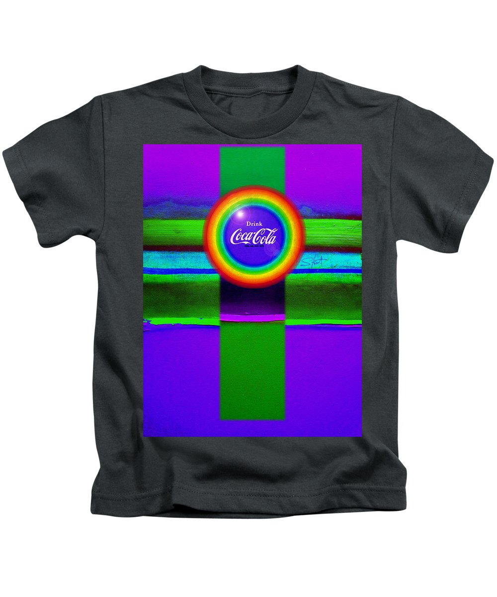 Violet Kids T-Shirt featuring the painting Rainbow by Charles Stuart