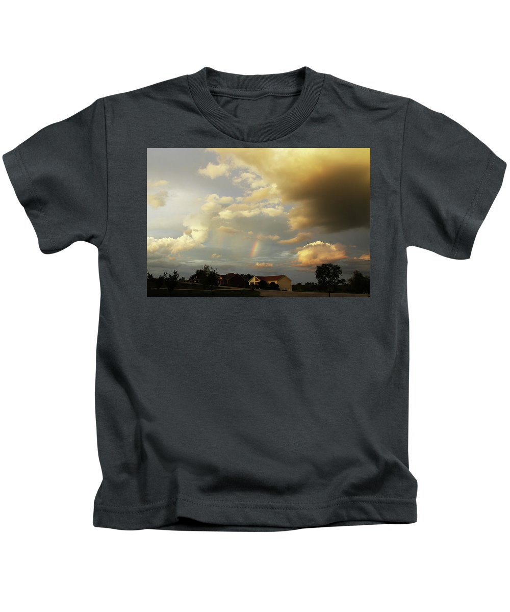 Brad Brailsford Kids T-Shirt featuring the photograph Rainbow House by Brad Brailsford