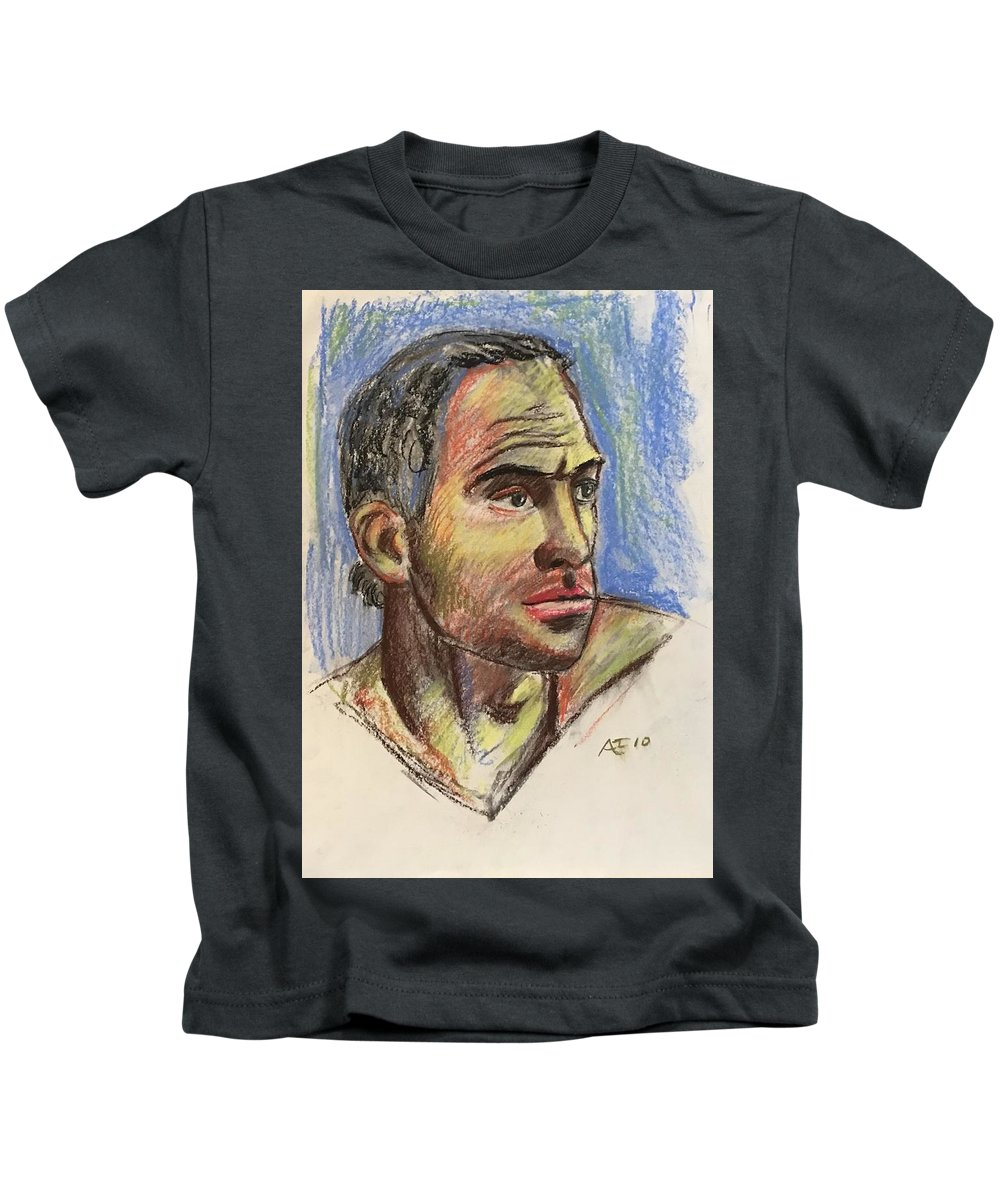 Kids T-Shirt featuring the pastel Raphael 3 by Alejandro Lopez-Tasso