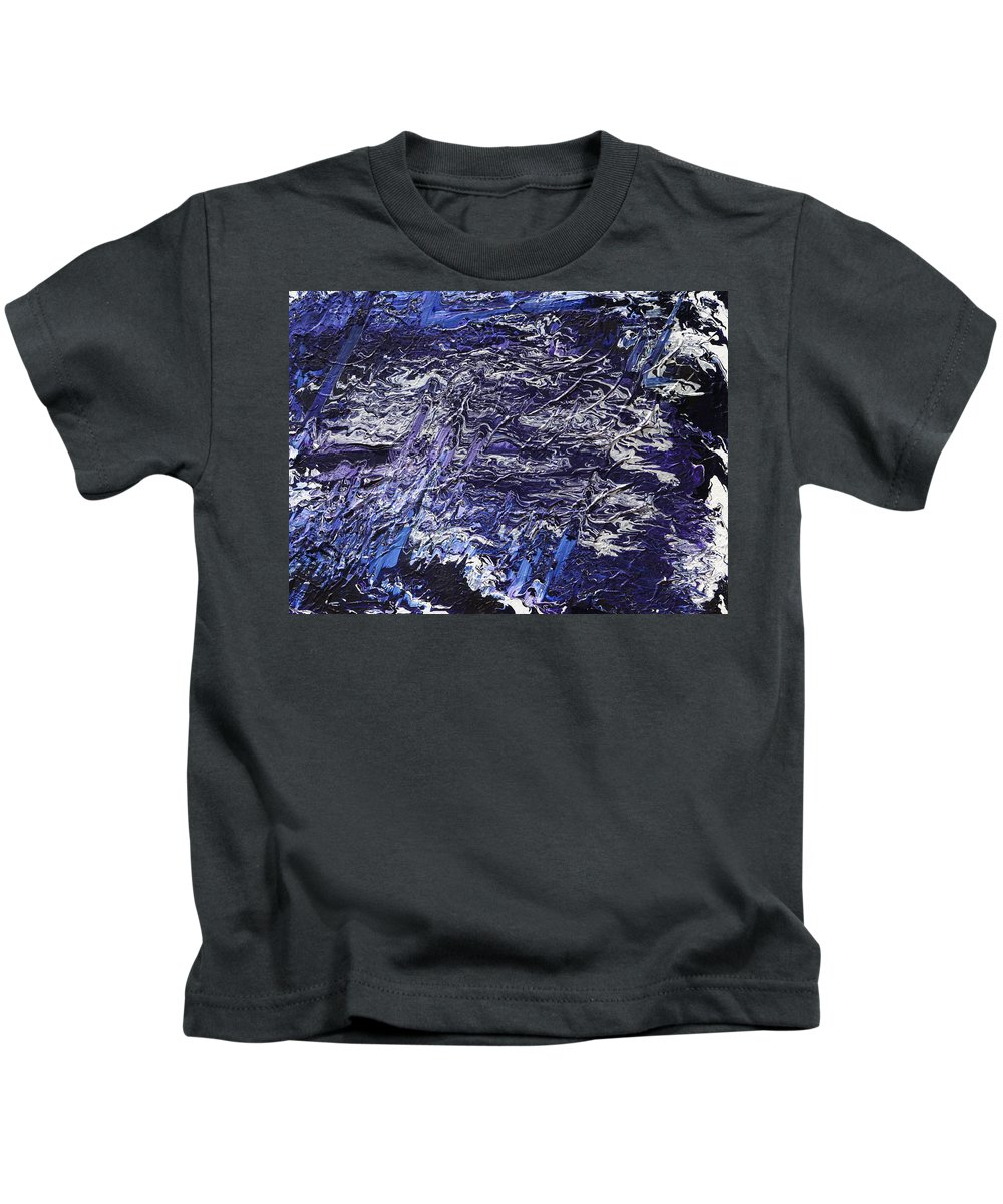 Fusionart Kids T-Shirt featuring the painting Rapid by Ralph White