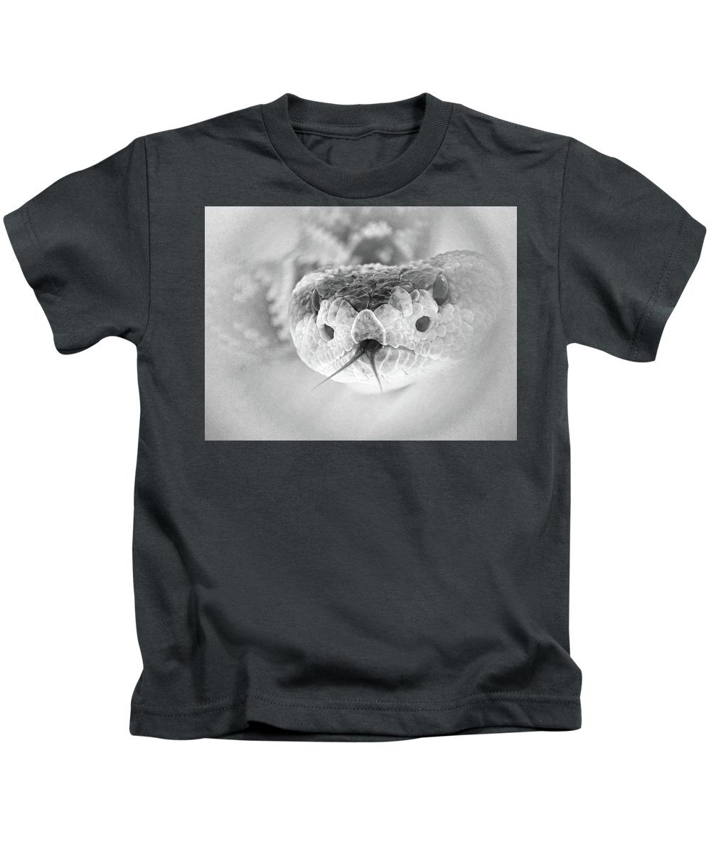 Rattlesnake Kids T-Shirt featuring the photograph Rattlesnake Hello by Erin Donalson