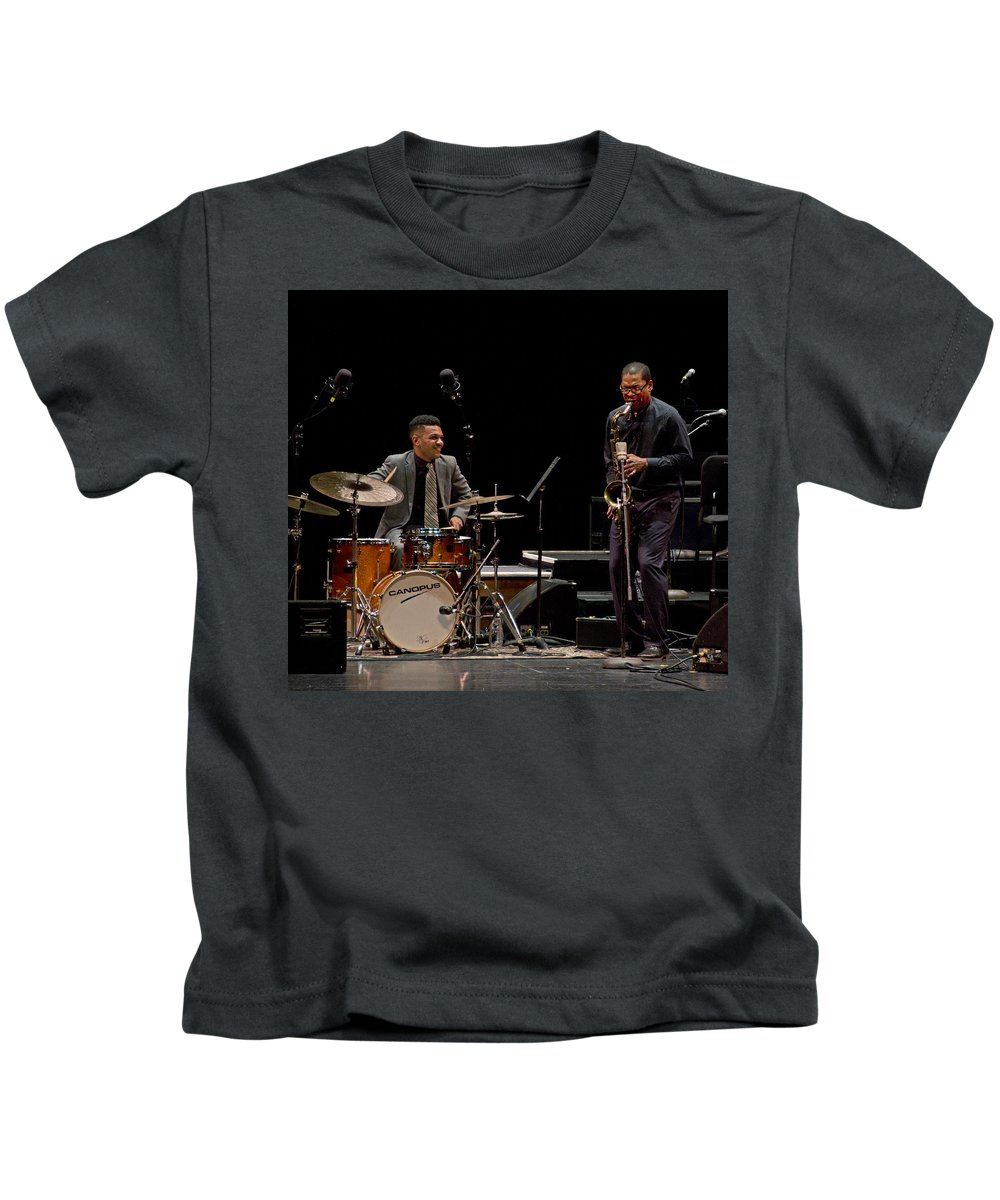Jazz Kids T-Shirt featuring the photograph Ravi Coltrane 2 by Lee Santa