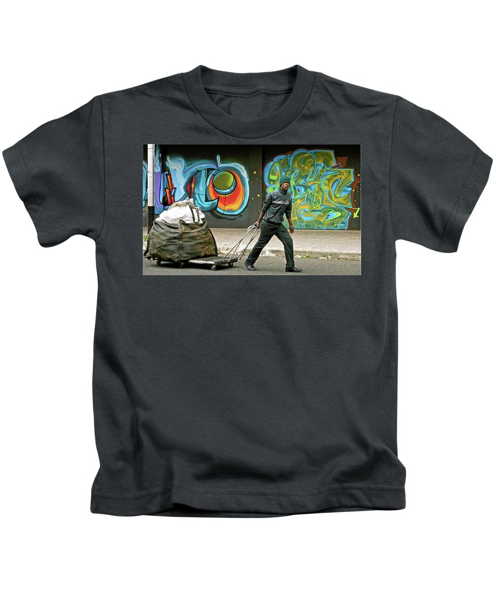 Recycler Kids T-Shirt featuring the photograph Recycler by Suzanne Morshead