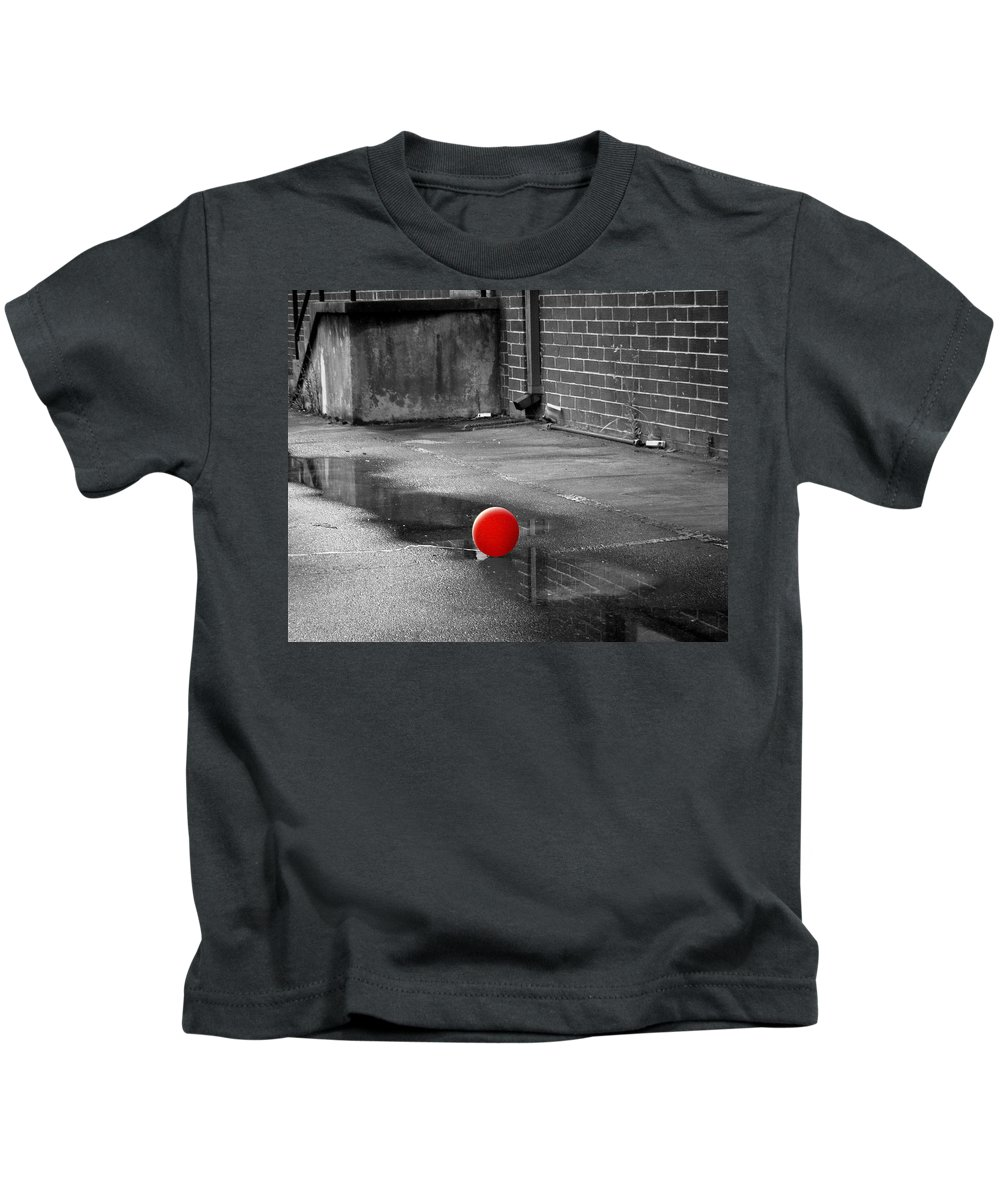 Balloon Kids T-Shirt featuring the photograph Red Balloon I by Gary Adkins