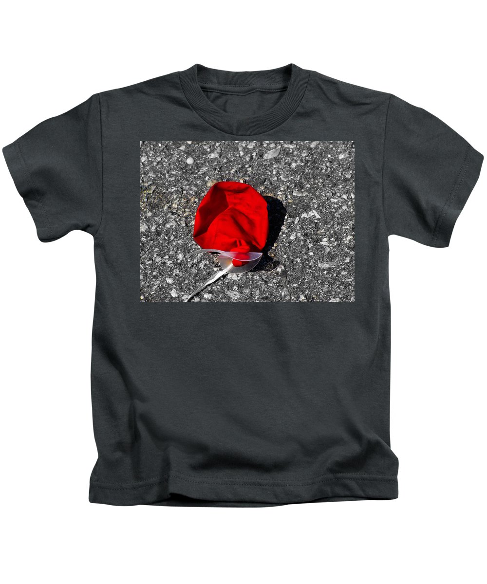Balloon Kids T-Shirt featuring the photograph Red Balloon II by Gary Adkins
