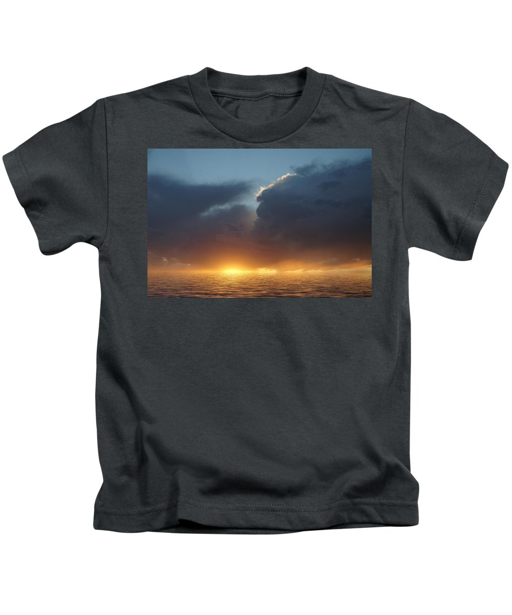 Original Art Kids T-Shirt featuring the photograph Red In The Morning by Jerry McElroy