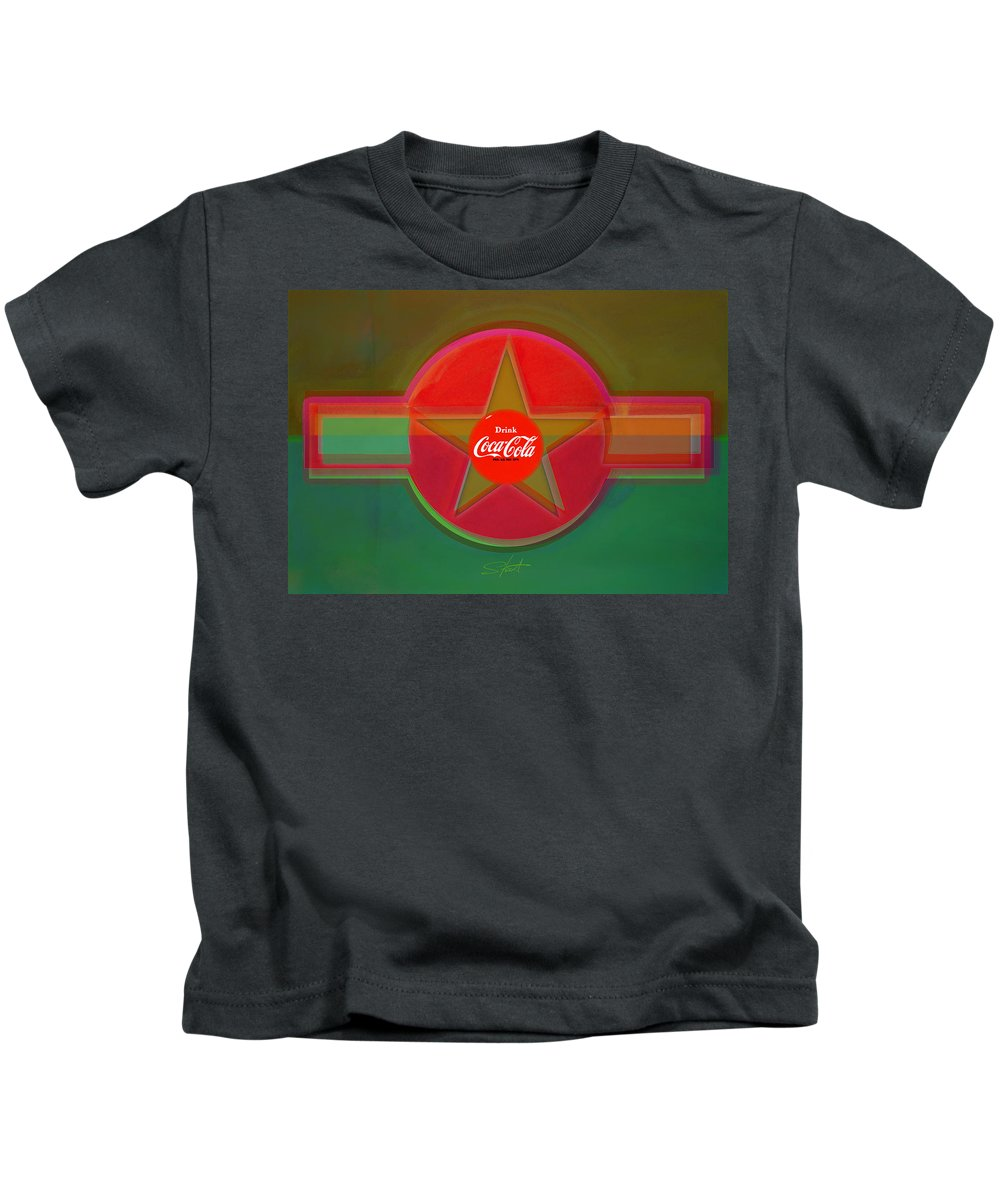 Insignia Kids T-Shirt featuring the painting Red Landscape by Charles Stuart