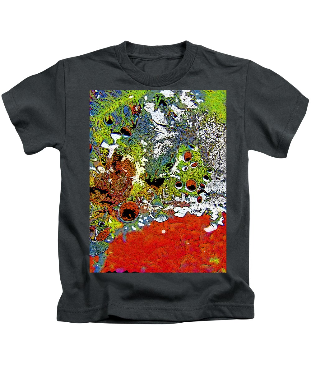 Abstract Kids T-Shirt featuring the photograph Red Peacock by Shirley Sykes Bracken