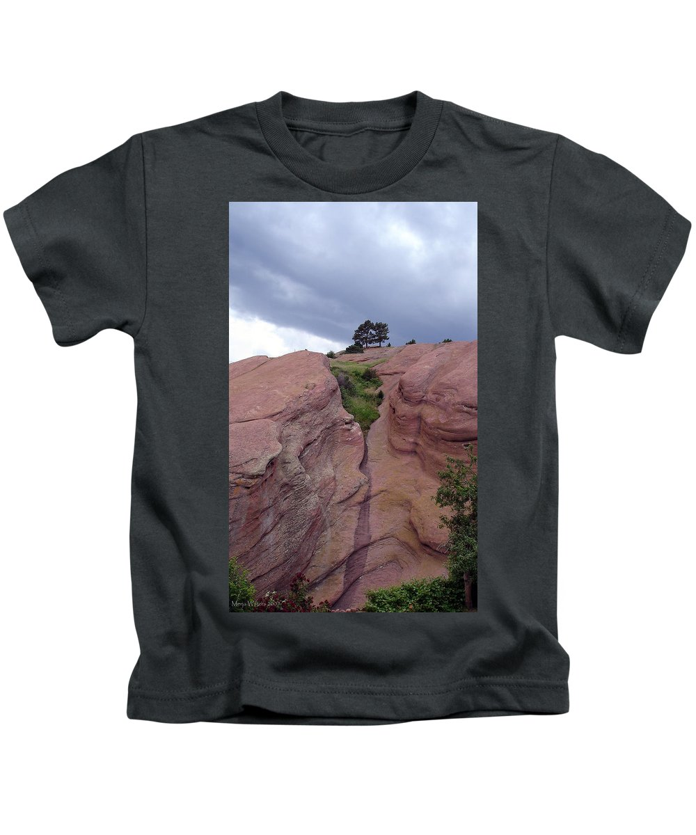 Red Rocks Kids T-Shirt featuring the photograph Red Rocks by Merja Waters