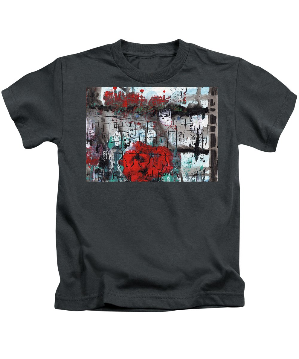 Abstract Kids T-Shirt featuring the painting Red Rover Red Rover by Wayne Potrafka