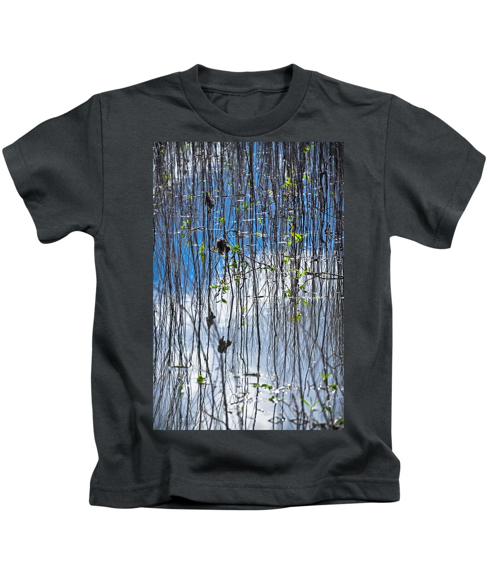 Fine Art Kids T-Shirt featuring the photograph Reflecting Reeds by Carolyn Marshall
