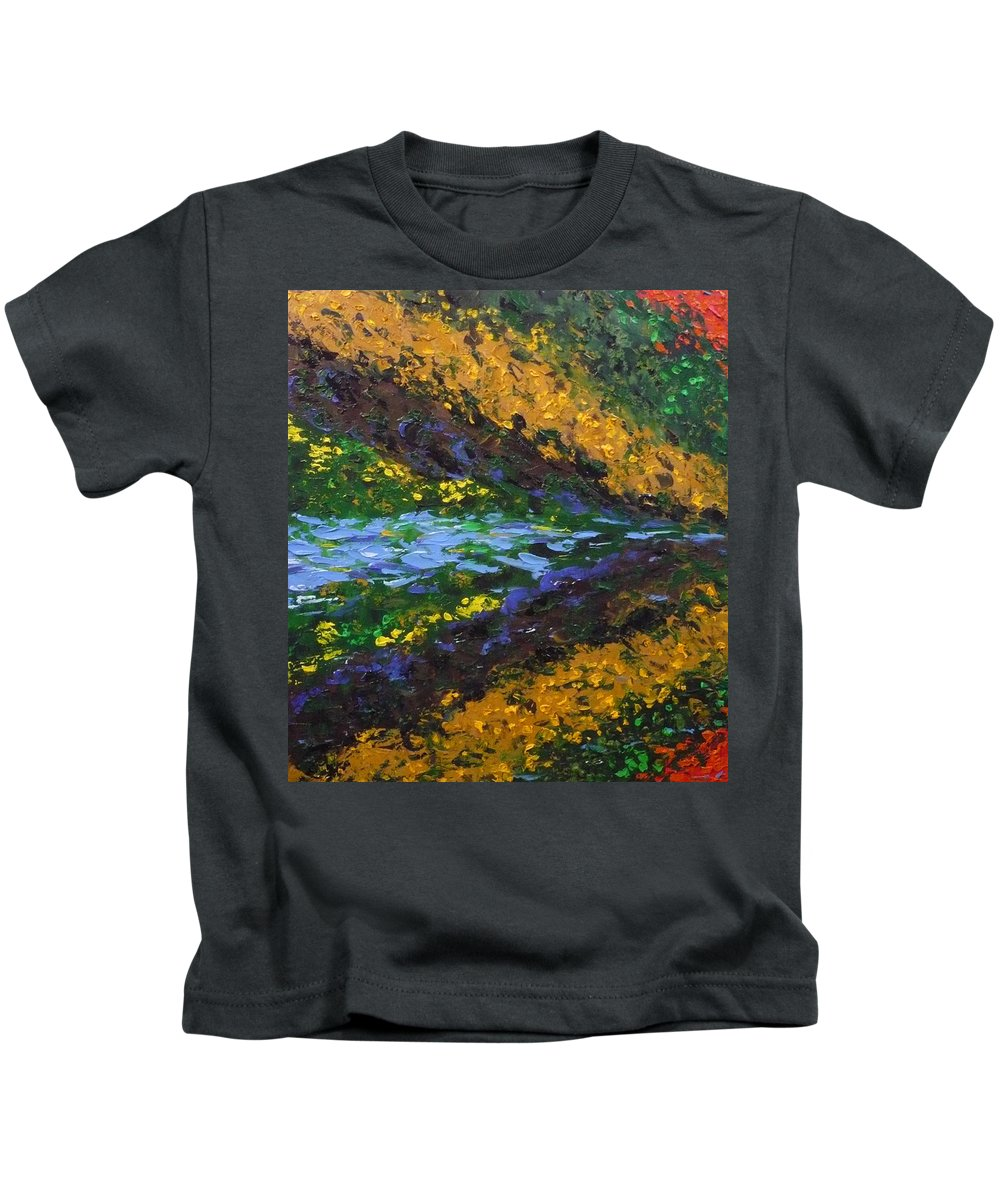 Landscape Kids T-Shirt featuring the painting Reflection One by Ericka Herazo