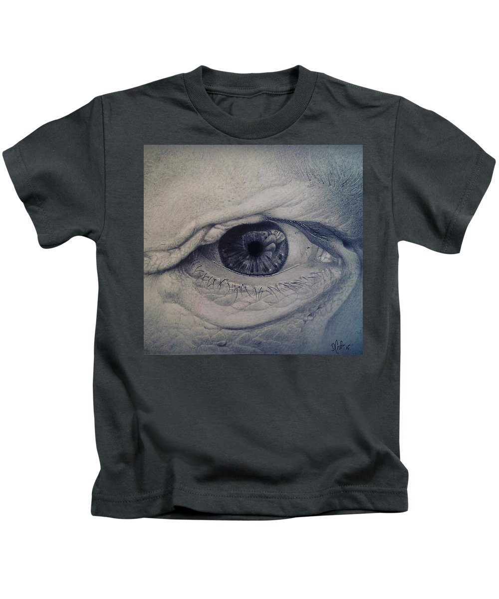 Eye Kids T-Shirt featuring the drawing Reflections by Danny Croft