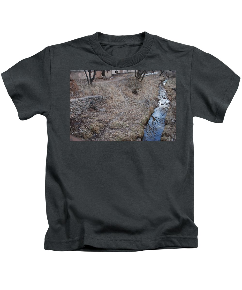 Water Kids T-Shirt featuring the photograph Reflections In The River by Rob Hans
