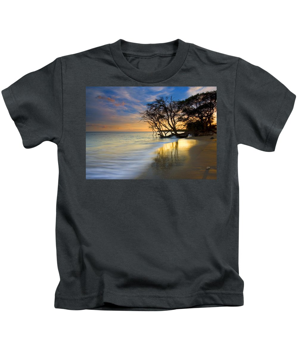 Waves Kids T-Shirt featuring the photograph Reflections Of Paradise by Mike Dawson