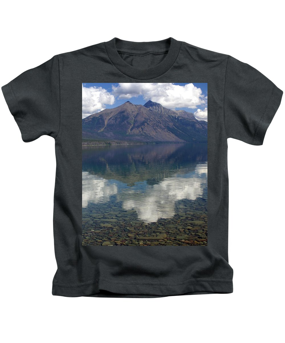 Lake Kids T-Shirt featuring the photograph Reflections On The Lake by Marty Koch