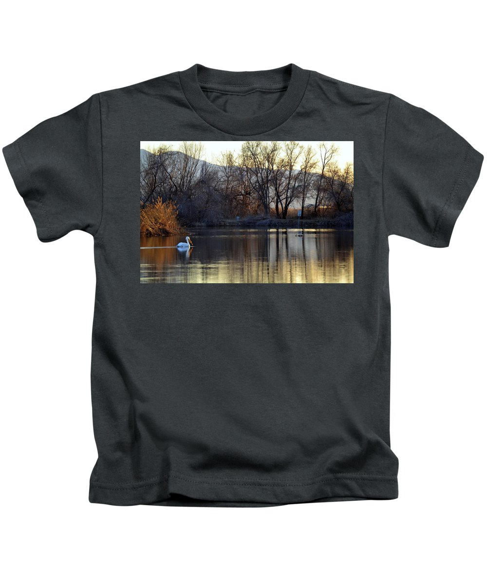 Landscape Kids T-Shirt featuring the photograph Relaxing Evening by Mary Lou Stone