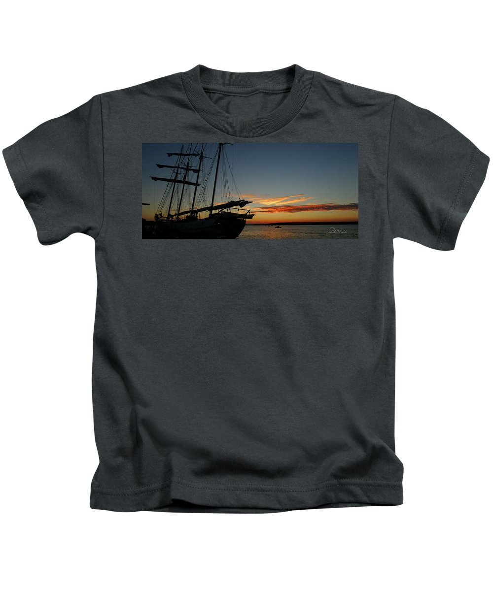Photography Kids T-Shirt featuring the photograph Remains Of The Day by Frederic A Reinecke