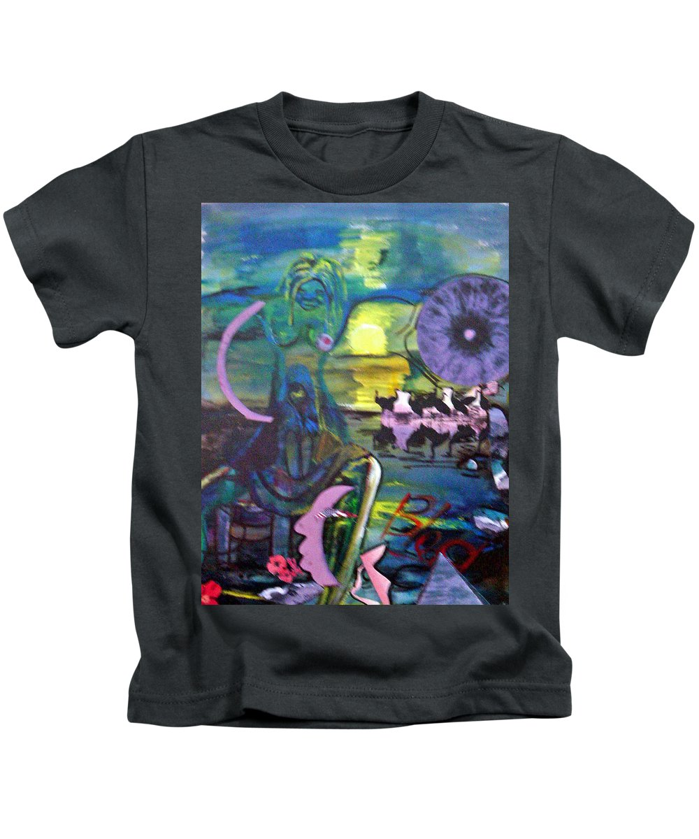 Water Kids T-Shirt featuring the painting Remembering 9-11 by Peggy Blood