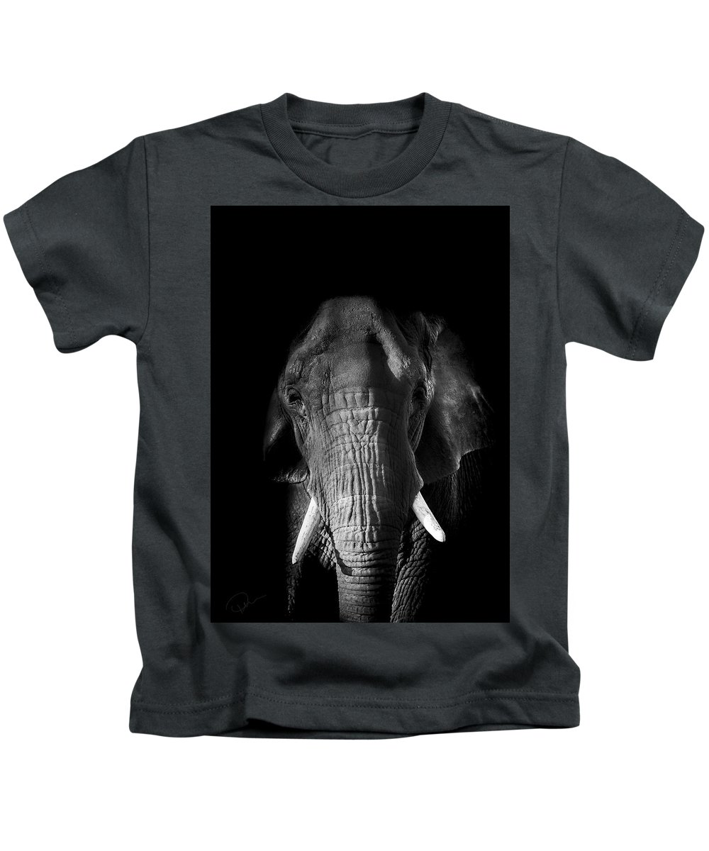 Elephant Kids T-Shirt featuring the photograph Remembrance by Paul Neville