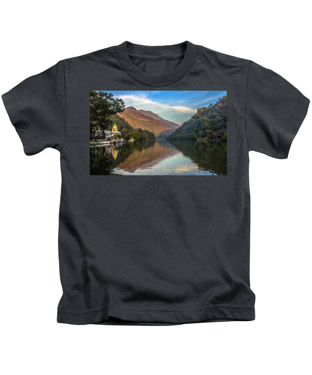 Temple Kids T-Shirt featuring the photograph Renuka Temple by Anupam Gupta