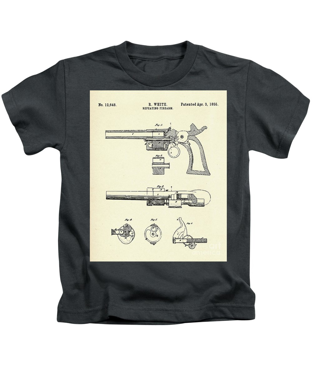 Collectibles Kids T-Shirt featuring the painting Repeating Firearm-1855 by Pablo Romero