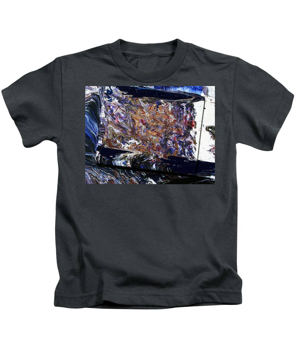 Fusionart Kids T-Shirt featuring the painting Revolution by Ralph White