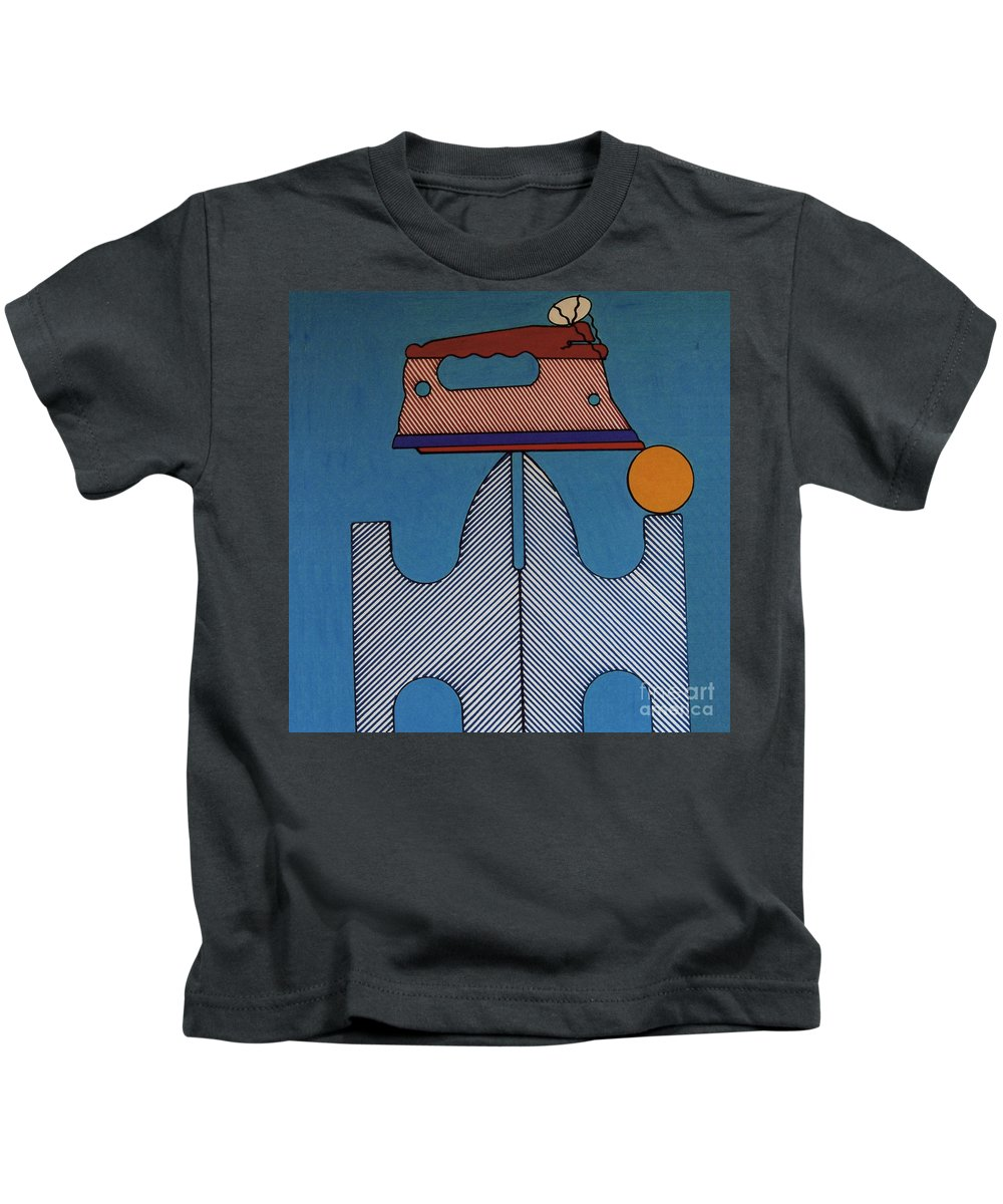 Abstract Kids T-Shirt featuring the drawing Rfb0913 by Robert F Battles