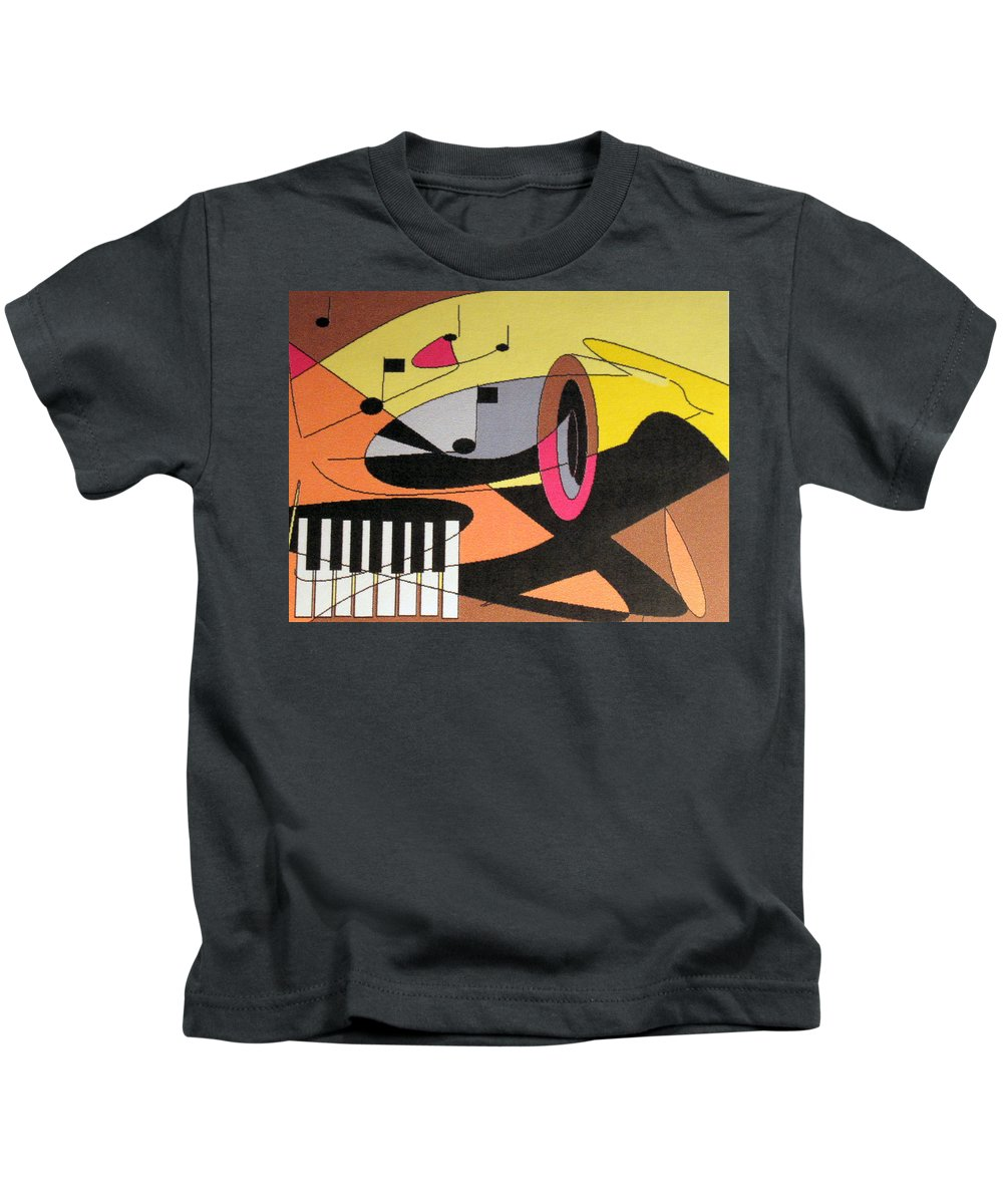 Music Kids T-Shirt featuring the digital art Rhapsody by Ian MacDonald