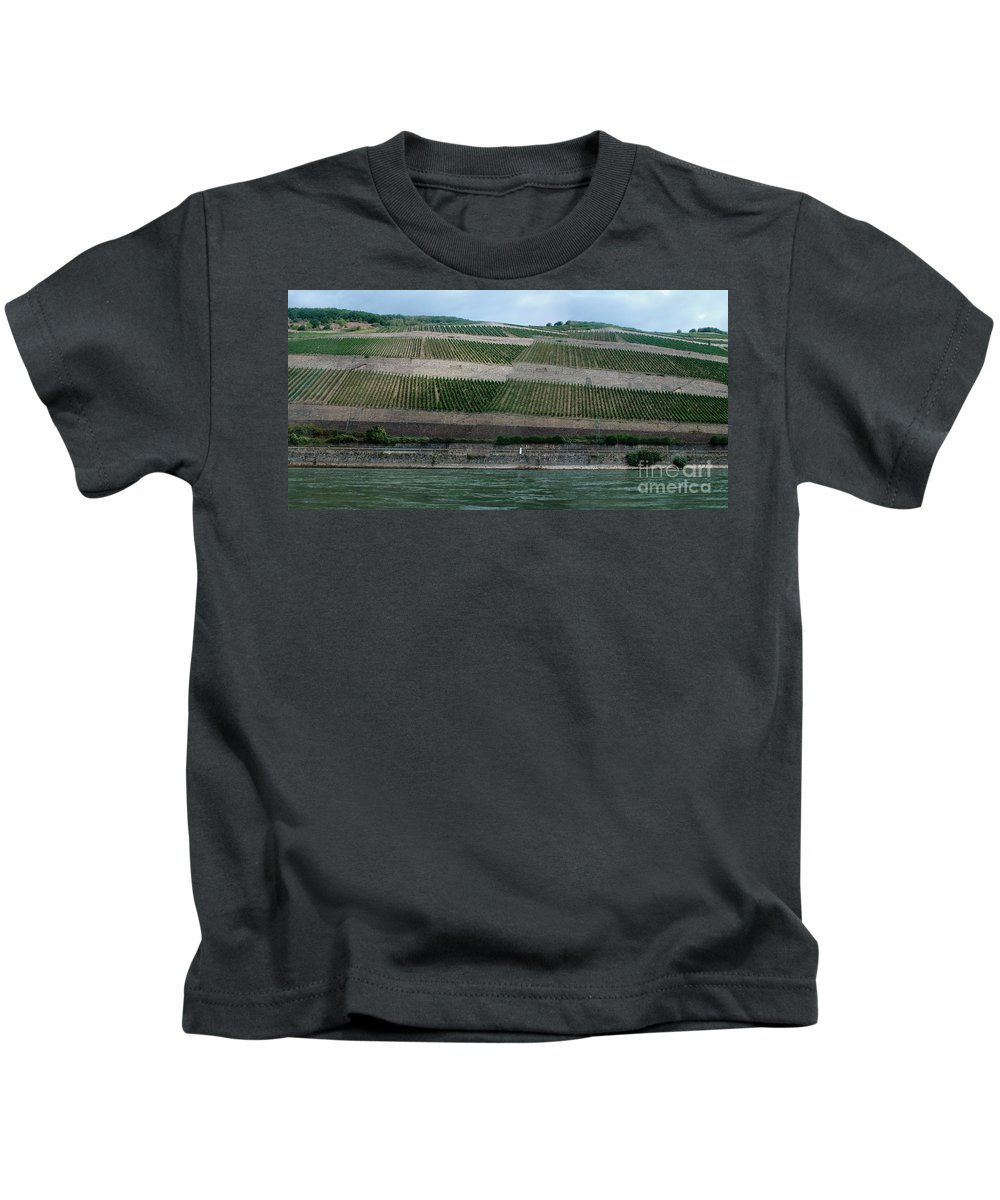Rhine Kids T-Shirt featuring the photograph Rhine Valley Vineyards Panorama by Thomas Marchessault