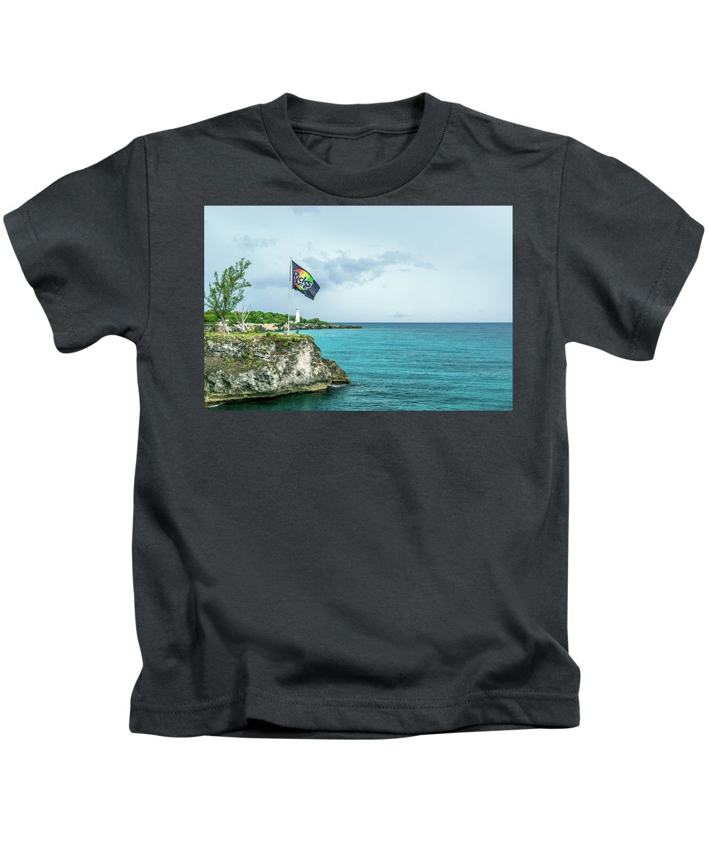 Ricks Cafe Kids T-Shirt featuring the photograph Rick's Cafe by Debbie Ann Powell