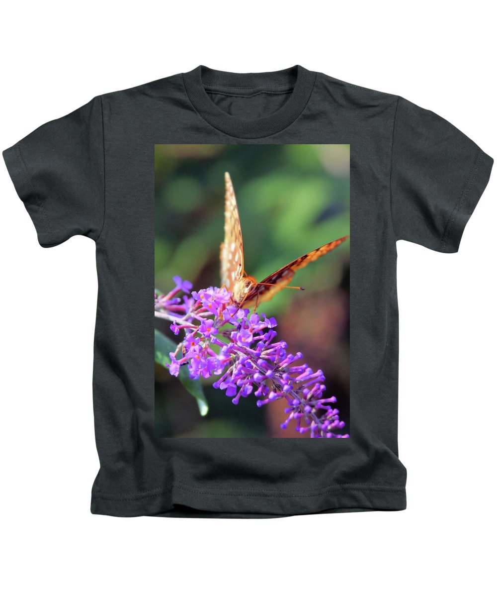 Butterfly Kids T-Shirt featuring the photograph Right At You by Karol Livote