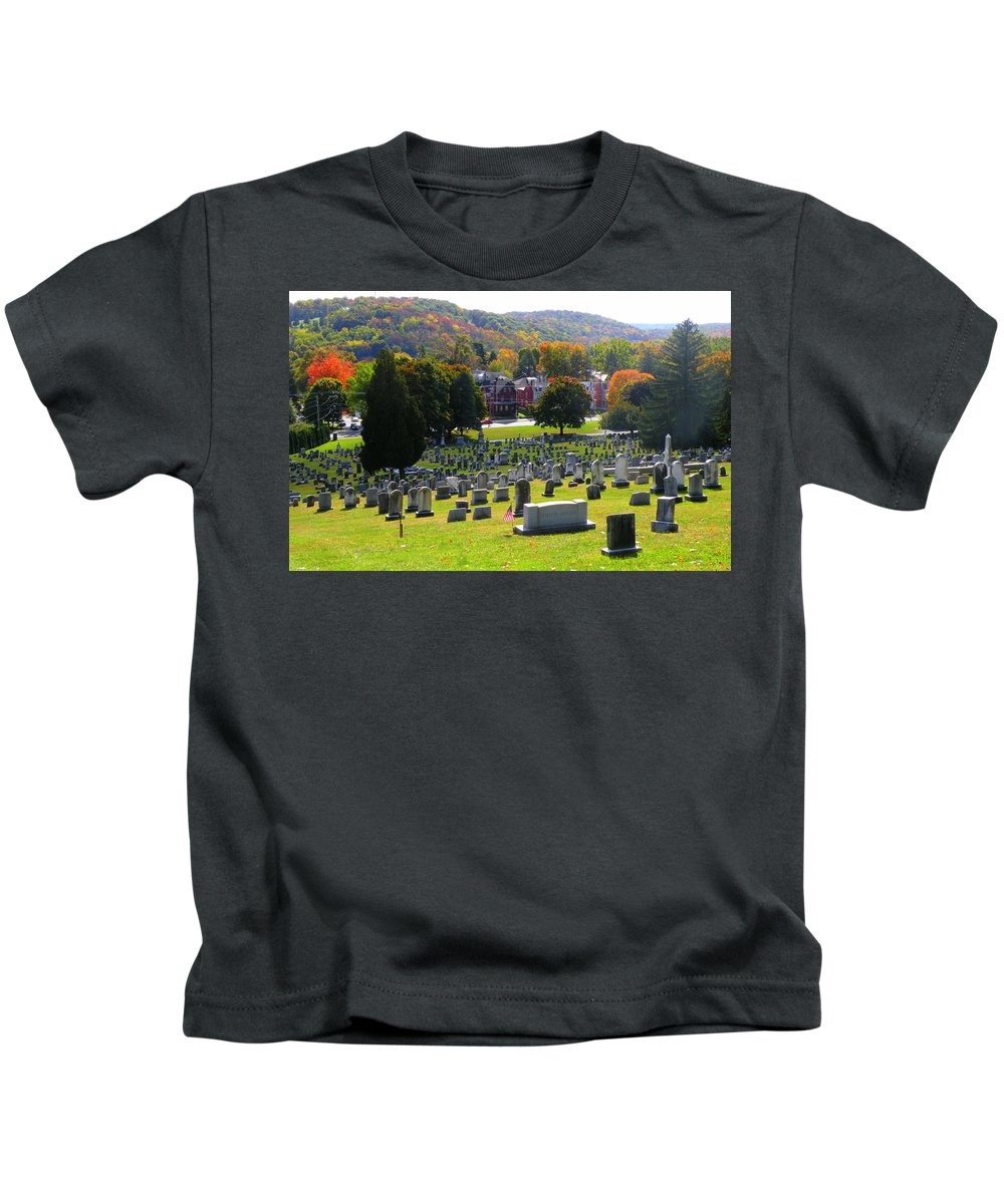 Kids T-Shirt featuring the photograph Rip Fall Colors by Trish Tritz