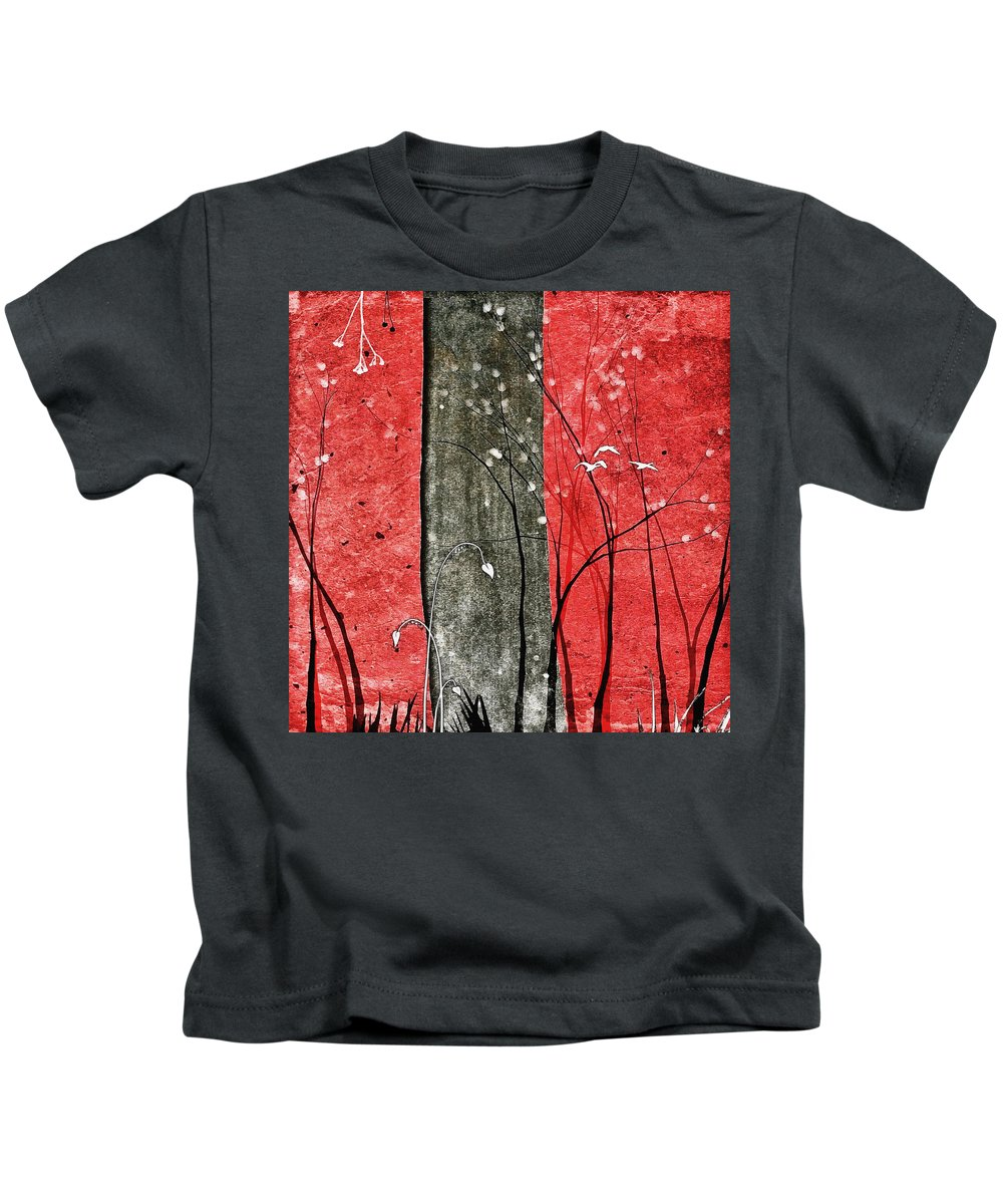 Abstract Kids T-Shirt featuring the digital art Ripscape #5 by Painterly Images