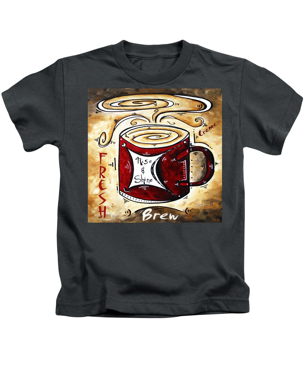 Original Kids T-Shirt featuring the painting Rise And Shine Original Painting Madart by Megan Duncanson