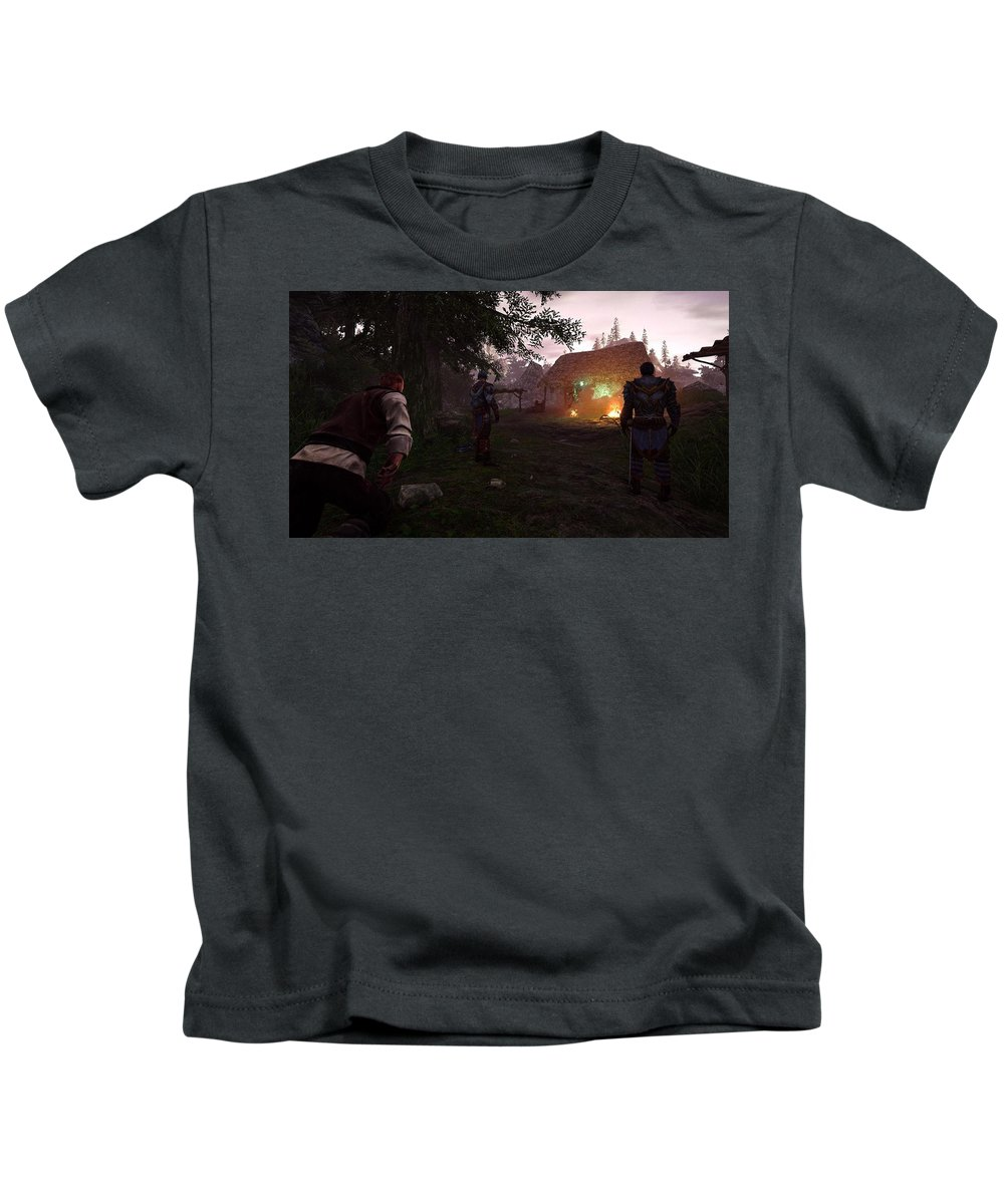 Risen 3 Titan Lords Kids T-Shirt featuring the digital art Risen 3 Titan Lords by Dorothy Binder