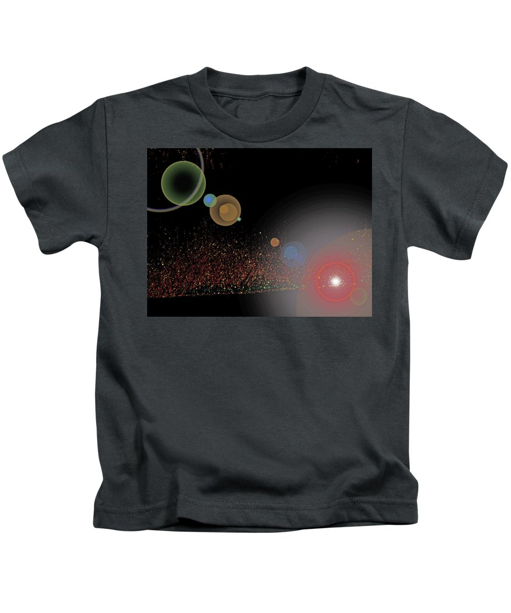 Abstract Kids T-Shirt featuring the digital art River Grasses In Night Colors by Lenore Senior