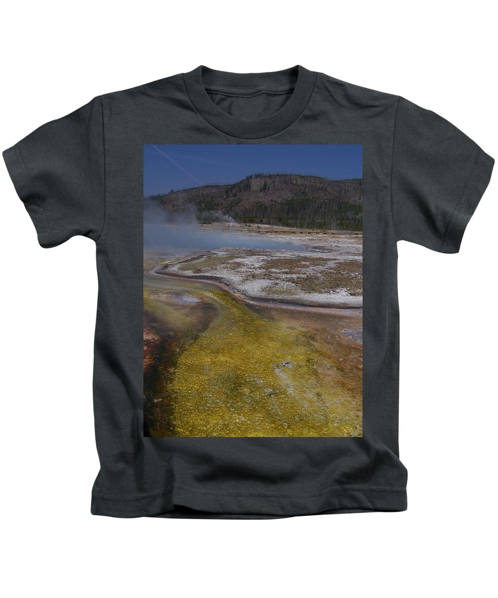 Geyser Kids T-Shirt featuring the photograph River Of Gold by Gale Cochran-Smith