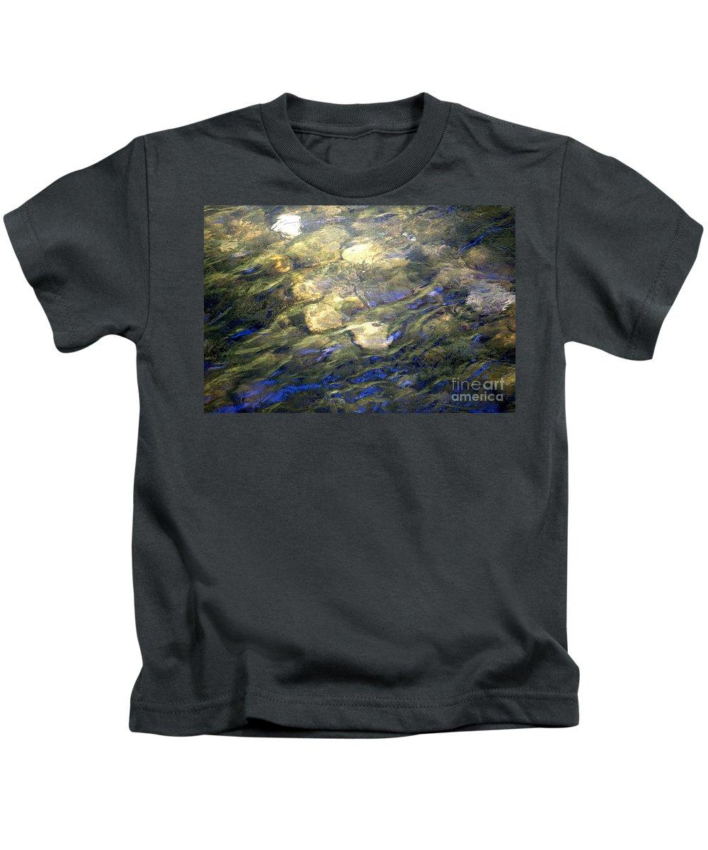 Water Kids T-Shirt featuring the photograph River Ripples by Flamingo Graphix John Ellis