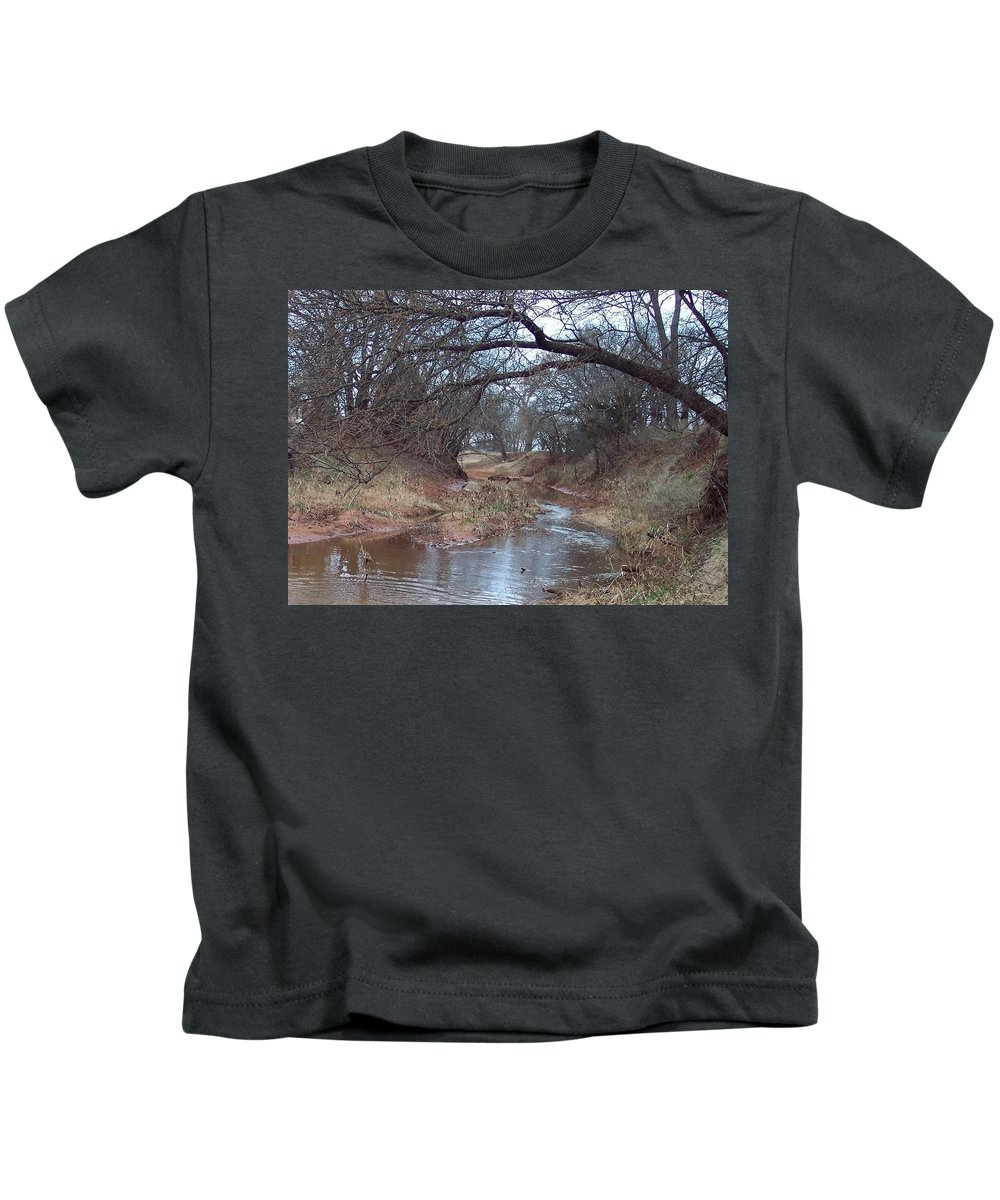 Landscapes Kids T-Shirt featuring the photograph Rivers Bend by Shari Chavira