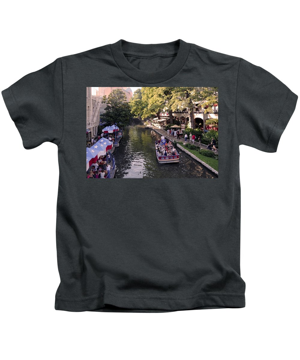 Impressionism Kids T-Shirt featuring the photograph Riverwalk IIi by Steven Sparks