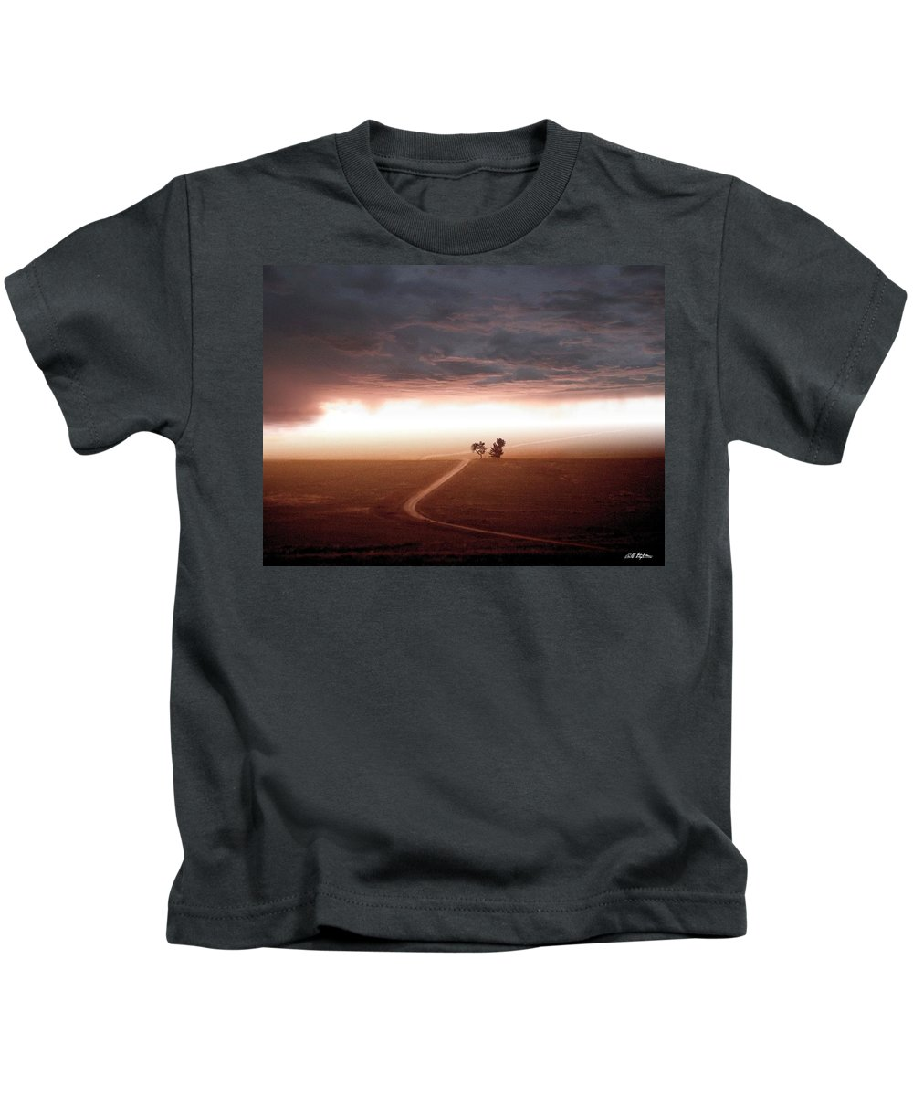 Scenic Kids T-Shirt featuring the mixed media Road Less Traveled by Bill Stephens
