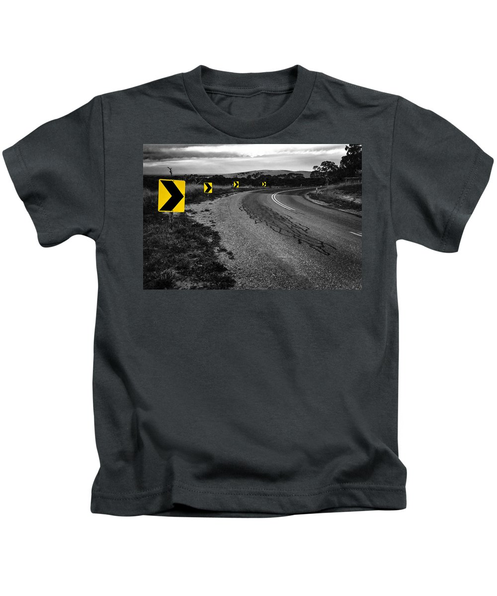 Road Kids T-Shirt featuring the photograph Road To Nowhere by Kelly Jade King