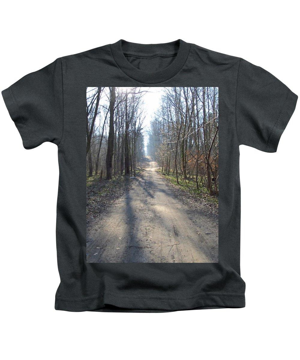 Colour Kids T-Shirt featuring the photograph Road by Wojtek Kowalski