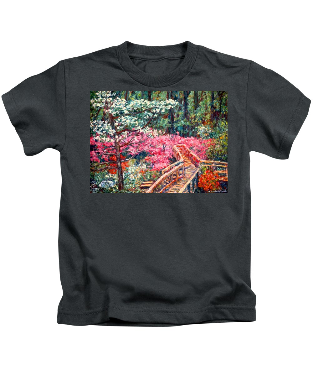 Garden Kids T-Shirt featuring the painting Roanoke Beauty by Kendall Kessler
