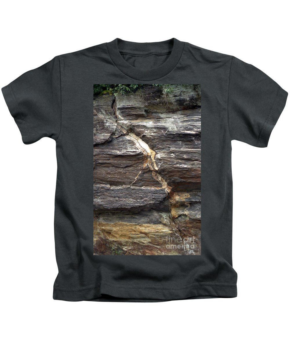 Rock Face Kids T-Shirt featuring the photograph Rock Face by Richard Rizzo