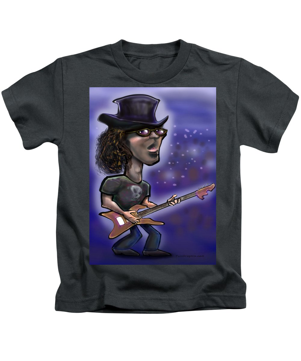 Rock Kids T-Shirt featuring the painting Rockstar by Kevin Middleton