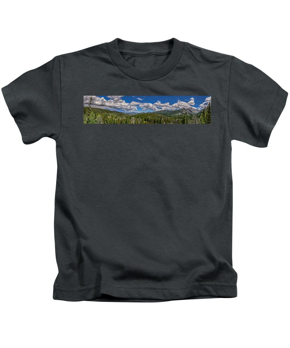 Overlook Kids T-Shirt featuring the photograph Rocky Mountain Overlook by Gary Mosman