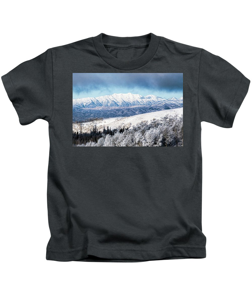 Mount Nebo Kids T-Shirt featuring the photograph Rocky Mountain Winter by Photopoint Art