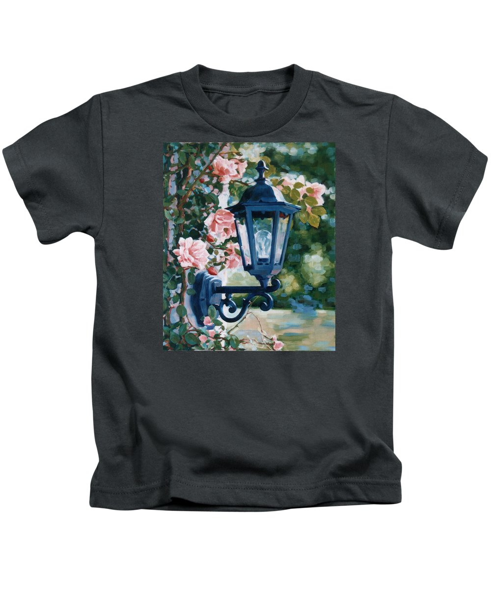 Roses Kids T-Shirt featuring the painting Romantic Fragrance by Iliyan Bozhanov